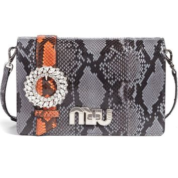 Miu Miu Genuine Python Shoulder Bag | Nordstrom