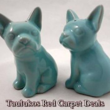 French Bulldog Salt & Pepper Shaker Set Ceramic Stoneware #FrenchBulldog #Target