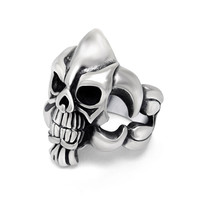 Stylish Gift New Arrival Jewelry Shiny Vintage Accessory Titanium Men Skull Ring [6526801987]