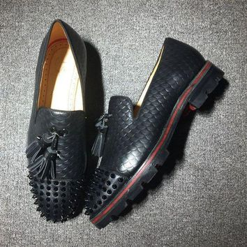 DCCK Cl Christian Louboutin Loafer Style #2405 Sneakers Fashion Shoes
