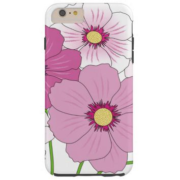 lovely pink flowers tough iPhone 6 plus case