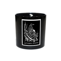 Autumn's Death Hand Poured Soy Candle Scented with Fire and Eucalyptus