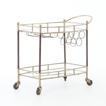 Coles Bar Cart-Antique Brass