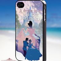 Disney cinderella quotes - iPhone 4/4s/5/5s/5c Case - Samsung Galaxy S3/S4 - Blackberry z10 Case - Black or White