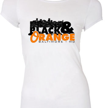 Black and Orange Baltimore Orioles Inspired T-shirt Baseball Toronto world series Os Shirt Swag summer Hot Funny Mens Ladies cool MLG-1044