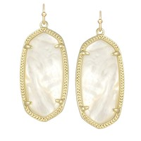 Elle Earrings in Ivory Pearl - Kendra Scott Jewelry