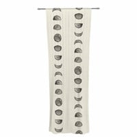 "KESS Original ""Phases Of The Moon"" Beige Gray Decorative Sheer Curtain"