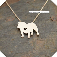 English Bulldog Pendant Necklace
