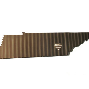 Tennessee Stainless Steel State Map Metal Wall Art Sculpture - State Sculpture - State Silhouette - State Sign