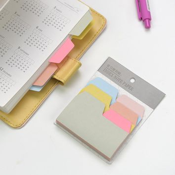 90Pc/Pack Fresh Candy Color Memo Index Notepad Notebook Memo Pad Self-Adhesive Sticky Notes Bookmark Gift Stationery M0040