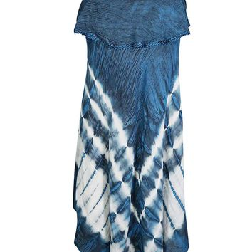Mogul Interior Presta Roman Sleeveless Tie-dye Cover-up Tank Top Dress S/M (Aegean-Blue): Amazon.ca: Clothing & Accessories