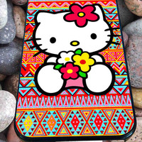 Hello kitty On Aztec for iPhone 4/4s/5/5S/5C/6, Samsung S3/S4/S5 Unique Case *95*