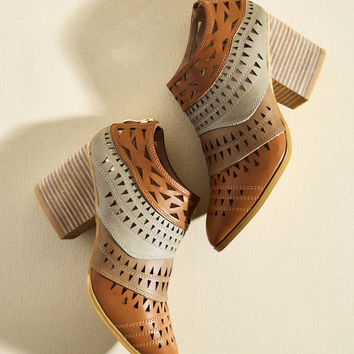 Lively in Layers Block Heel Bootie