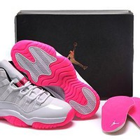 Hot Nike Air Jordan 11 Retro Women Shoes White Rose