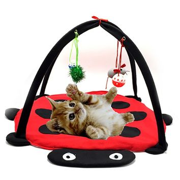 Funny Multifunction Cat Hammocks  Kitten Cat Supplies Play Hanging Sleep Bed Cat Furniture Tent with Balls Cat Play House Toys