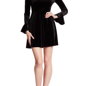 CeCe by Cynthia Steffe | Jayden Bell Sleeve Velvet Dress | Nordstrom Rack