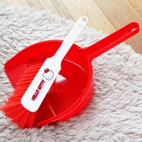Hello Kitty Brush and Dustpan Set-Red