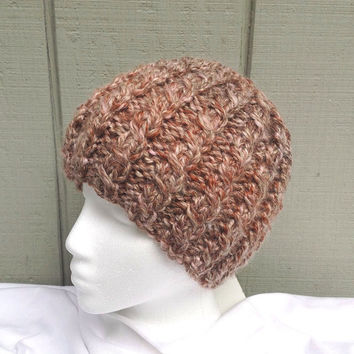 Alpaca knitted hat - Alpaca beanie - Womens knit hat - Teens knit beanie - Alpaca blend hat