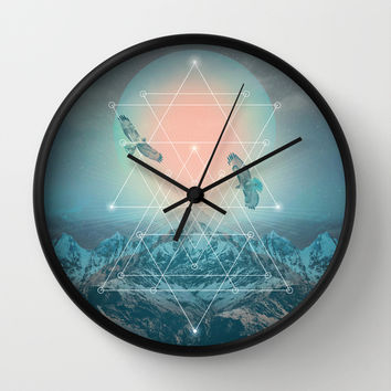 Find the Strength To Rise Up II Wall Clock by Soaring Anchor Designs