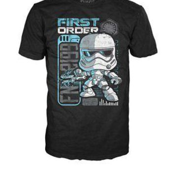 "Funko Pop Tees: Star Wars First Order StormTrooper ""Riot Control"" T-Shirt (XXL)"