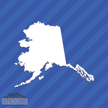Alaska AK State Outline Vinyl Decal Sticker