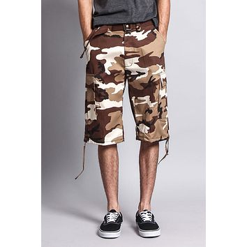 Belted Camo Cargo Shorts 9AP10 (Big Sizes) - GG1B