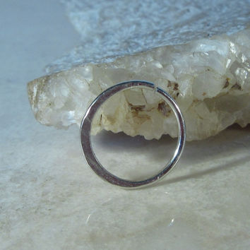 Silver Nose & Septum Ring Hammered