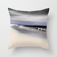Lovely Twilight Seascape 2 Throw Pillow by Jen Warmuth Art And Design