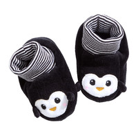 H&M - Velour Slipper Socks - Black - Kids