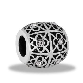 DaVinci Beads Black And Silver Flowers Jewelry