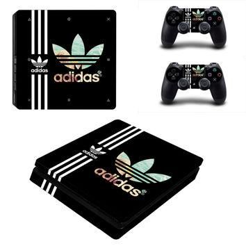 Adidas PS4 Slim Skin Sticker for Console + 2 Controller Stickers