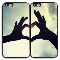 Love Unique Matches Case for iPhone and Samsung Series,Two Differrent Phone Models Mixed OK
