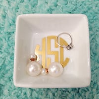 Monogrammed Jewelry/Ring Dish