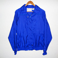 90s Blue Windbreaker - medium -
