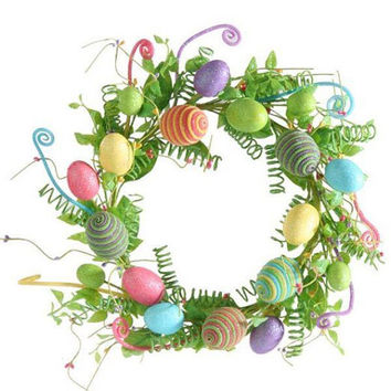 Easter Wreath, Spring Wreath, Easter, Spring, Spiral Wreath, RAZ, RAZ WREATH