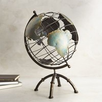 Antiqued Iron Globe