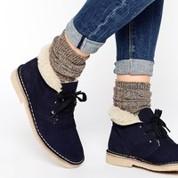 Bronx Fur Lined Suede Desert Boots