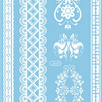 White Lace Temporary Tattoos code 8