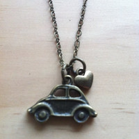 "Volkswagen Beetle ""Love Bug"" Necklace"