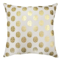 Colordrift Marquee Dazzle Dots Throw Pillow (Yellow)