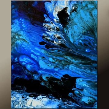 Abstract Wall Art Print 11x14 Contemporary Modern Giclee by Destiny Womack A Sea of Tears - dWo