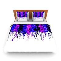 "Claire Day ""Drops"" Purple King Fleece Duvet Cover - Outlet Item"