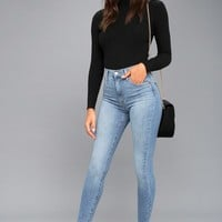 Mile High Light Wash Super Skinny Jeans