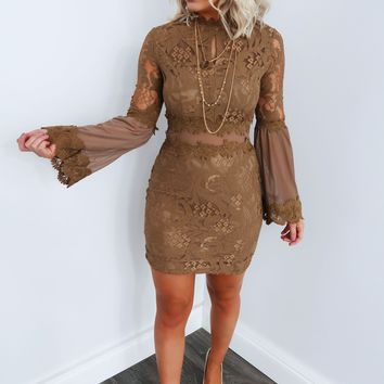 Stand Out Dress: Taupe