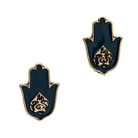 MKL Accessories Studs Good Luck in Gold