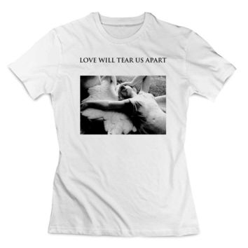 love will tear us apart louis one direction wear shirt white Clothing T shirt Women