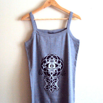 Hamsa Tank Top Spiritual Grey Yoga Top Paisley T-Shirt Fitness Workout Tank Hand of Fatima Top Zen Shirts Women Clothing Fashion