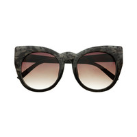Large Designer Fashion Womens Round Cat Eye Sunglasses Tortoise C1690