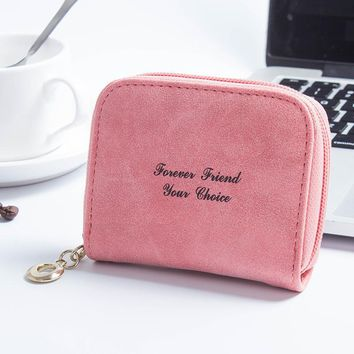 Women's Wallets Leather Plush Cute s Card Holders Pouch mini