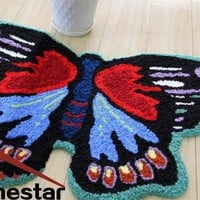 Autumn Fall welcome door mat doormat Butterfly Floor Mat Embroidery Rug Decorative Rugs Small Carpets Bathroom Mat Livingroom Area Rug  Spring Decorate Rug AT_76_7